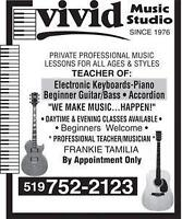 Vivid Music Studio,Your First 2 LESSONS are FREE!