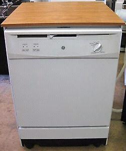 White GE Portable Dishwasher