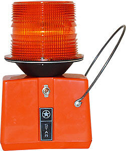 STAR FLASHING BEACON MADE IN USA MORE RED THAN ORANGE