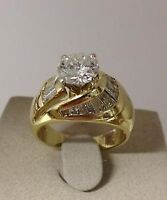 DIAMANT 1.28 carat : L'OR 18k BAGUE DE FIANCALLES