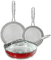 KitchenAid Stainless Steel 8-Piece Cookware Set Red (Brand New)