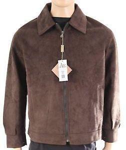 vintage suede leather brown button up jacket coat size M medium L large dRgFC