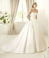 WOW WEDDING DRESS. Stunning Satin. Timeless,unique color.