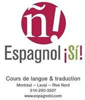 Cours d'espagnol certifié à Laval, Montréal et Rive-Nord