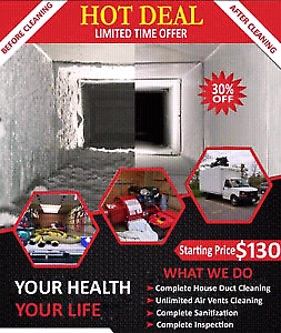 Duct cleaning decent deal cl  call or text. 647-794-2038