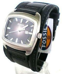 mens fossil watch leather men s fossil wide leather watch