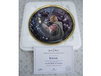 COMPLETE SET OF 10 WEDGEWOOD/DANBURY MINT/NEW LINE LORD OF THE RINGS ROUND 8 INCH DIAMETER PLATES