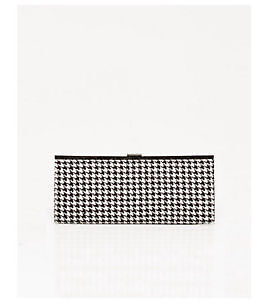 Le Chateau Houndstooth Frame Clutch
