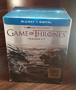 New Game of Thrones BluRay and HD Digital Set Seasons 1 to 7.