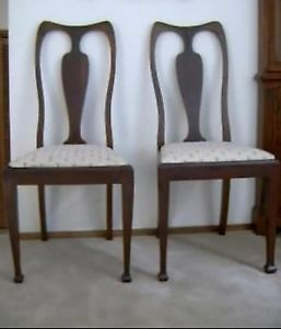 Antique chairs (pair) Queen Anne style