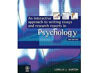 Interactive Approach to Writing Essays and Research Reports in Psychology Psychology students
