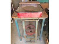 Sturdy Potters kick wheel