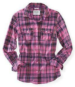 Womens plaid shirt ebay for Womens green checked shirt