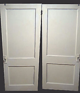 "antique solid fir ""Drake"" style 2panel Interior Doors"
