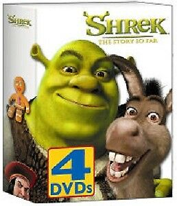DVD Shrek;  CD Shrek;  Monsters, Inc ''READ ALONG''