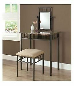 $168 · BRAND NEW Black or gold Vanity With Chair with FREE DELIV
