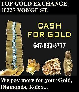 MOBILE CASH FOR GOLD & ROLEX WATCHES. I COME TO YOU & PAY CASH