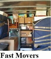 FAST MOVERS  2 movers17ft$65/hr or 3 movers26ft truck $85/h