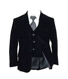 Kids Suit (VELVET) 5 PIECE SUIT – AVAILABLE COLOURS (BLACK & NAVY BLUE)