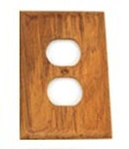Teak Outlet Cover - new in package