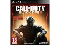 CALL OF DUTY BLACK OPS 3 GAMES FOR PS3 OR XBOX 360 SEALED