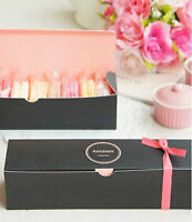 Sweet & Chic Blue or Black Macaron Boxes (NEW)
