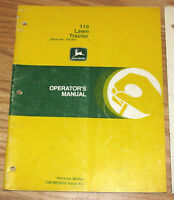 JOHN DEERE 116 SERVICE AND PARTS MANUAL WANTED