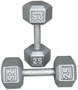 25lb Hex Dumbbells