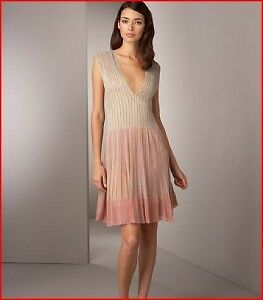 M-MISSONI-Vertical-Striped-Shimmer-Dress-42-NWT