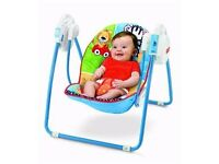 Fisher-Price Adorable Animals Open Top Take Along Swing -almost new