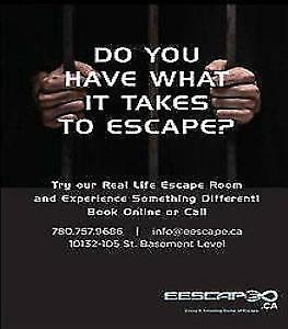 40% off gift card/ticket available at Edmonton Escape Rooms
