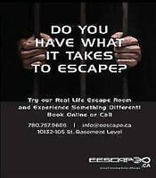Edmonton Escape Rooms looking for front desk and game assistant
