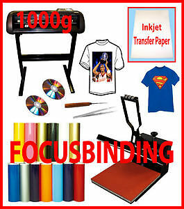 "24""Metal 1000g Vinyl Cutter Plotter,15x15 Heat Press,PU Vinyl"