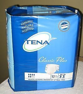 New TENA Classic Plus Brief, Medium, 12 Count