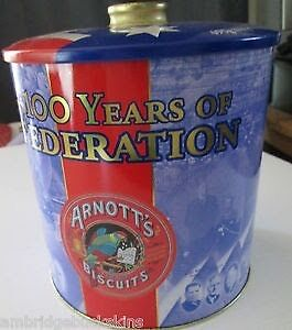 Arnott's 100 Years of Federation Biscuit Tin Castle Hill The Hills District Preview