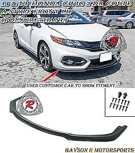 14-15 Honda Civic 2dr Coupe A Style Front Lip