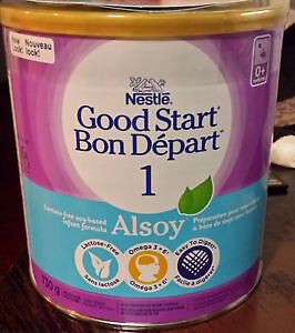 Brand new sealed can of Nestle Good Start 1 Alsoy formula.