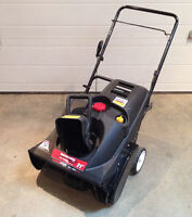 "21"" Yard Machines single stage snowblower"