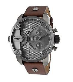 Diesel Brown Leather Mens Watch DZ 7258 RRP £279 Brand New with box
