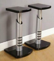 Classy and Sturdy Metal and Wood Speaker Stands- unopened box