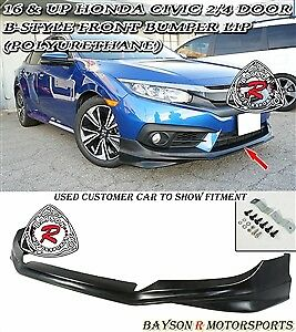 16 & up Honda Civic 2/4-Door B-Style Front Lip