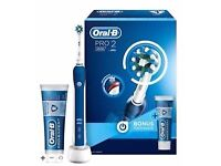Brand New Oral B PRO 2 2500 Rechargeable Electric Toothbrush