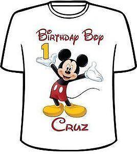 aca47c3b Mickey Mouse Birthday Shirts
