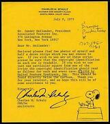 Charles Schulz Signed