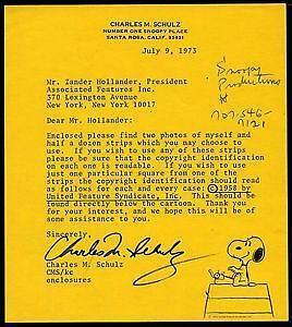 Charles Schulz Signature