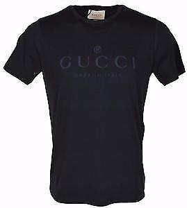 Navy Gucci Tonal Logo Tee