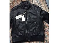 Brand New ALL SAINTS *SNITCH* Black Leather Aviator JACKET UK 14, £295