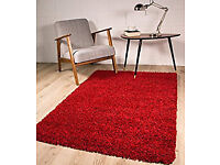 Carpet Rug, Dark Red and Shaggy(Unused)
