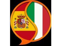 Spanish/Italian lessons