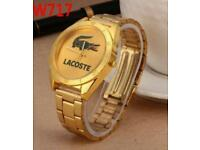 Gold Lacoste watch